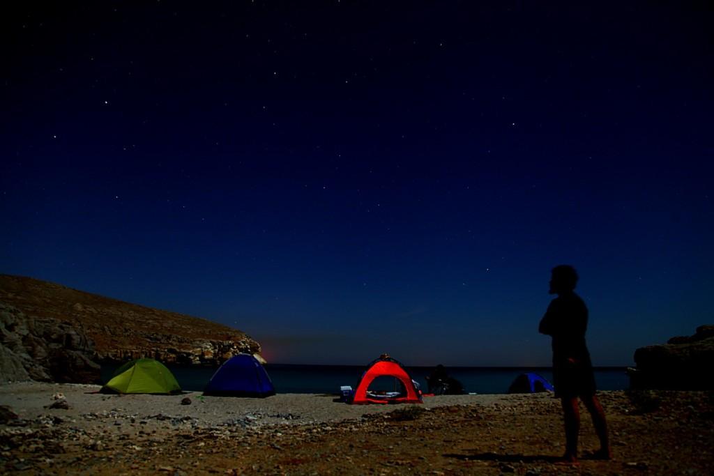 Camping at Seeb Al Ghareeb