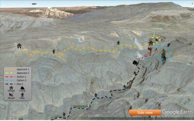 Wadi Al Nakhr Side view map